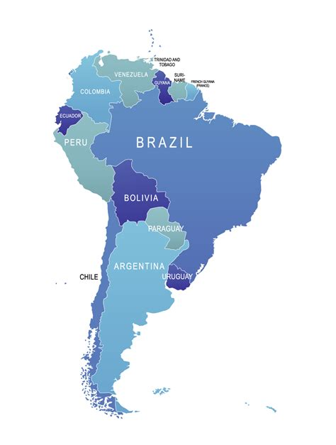 south american map of brazil south america