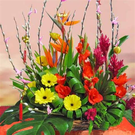 new year flower basket singapore florist buy flowers from singapore florists