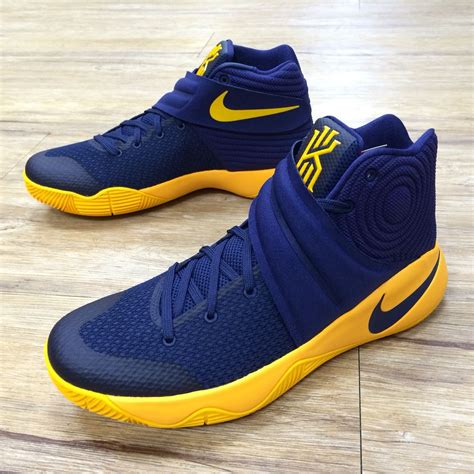kyrie irving shoes nike kyrie 2 ep ii irving cavs playoffs pe navy gold mens
