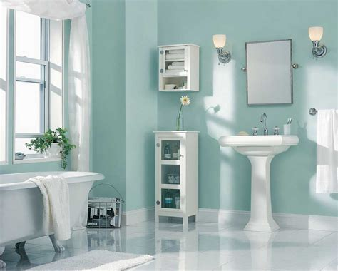 best paint color for bathroom using light blue wall paint color with white wash basin home