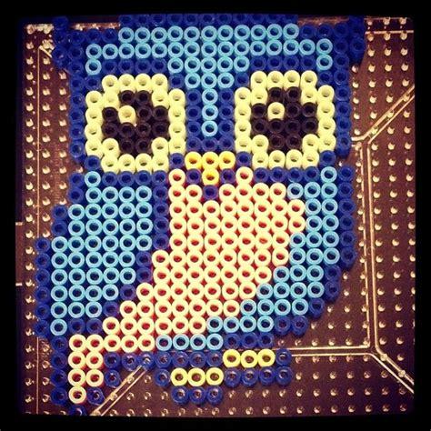 perler bead patterns owl blue owl perler by theinstakat hama pattern
