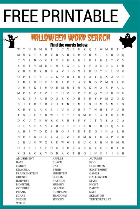 Free Lookup With Word Search Free Printable