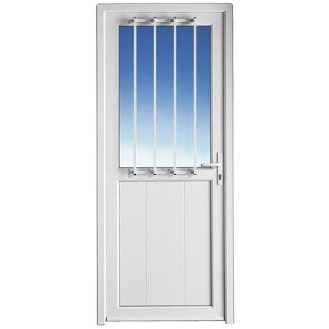porte de service ouessant pvc avec grille portes