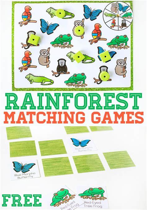 printable rainforest animal cards rainforest matching games for preschoolers life over cs