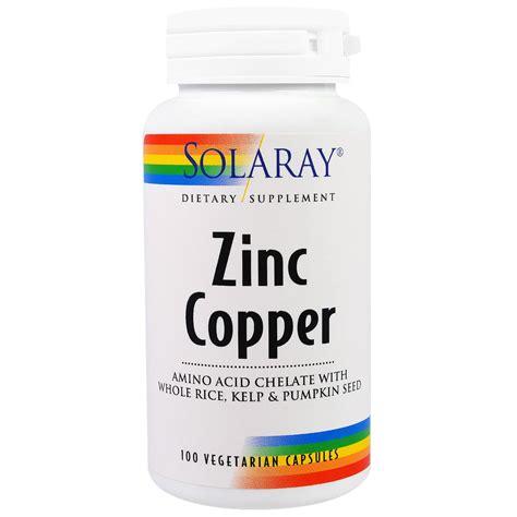 supplement zinc and copper solaray zinc copper 100 veggie caps iherb