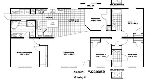 5 bedroom 3 bath mobile home floor plans 5 bedroom 3 bath mobile home plans