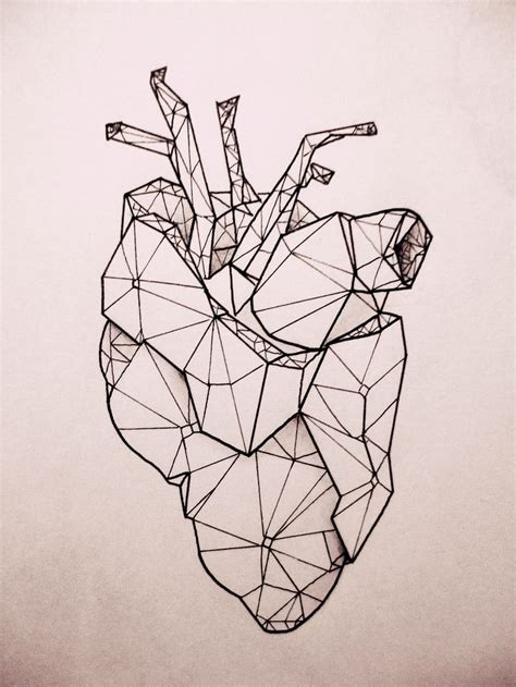geometric heart tattoo best 25 geometric ideas on