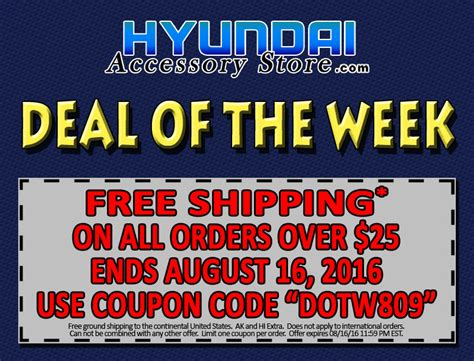 Deal Of The Week 25 At Adasacom by Hyundai Accessory Store A Gary Rome Hyundai Site 1 800