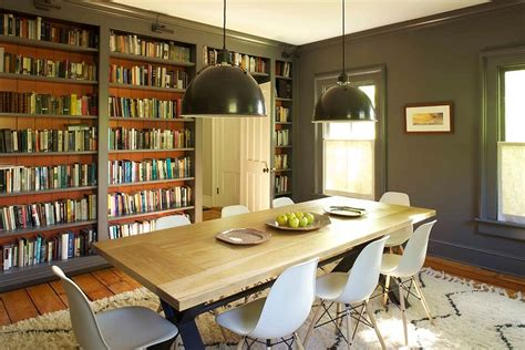 library dining room industrial style lighting makes a grand visual statement in the library dining room comb decoist