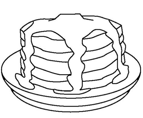 17 Best Images About Pj And Pancakes Coloring Stack Of Pancake Colouring Pages