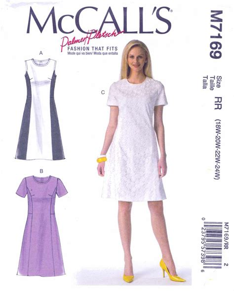 pattern a line dress mccall s sewing pattern 7169 misses size 8 16 palmer