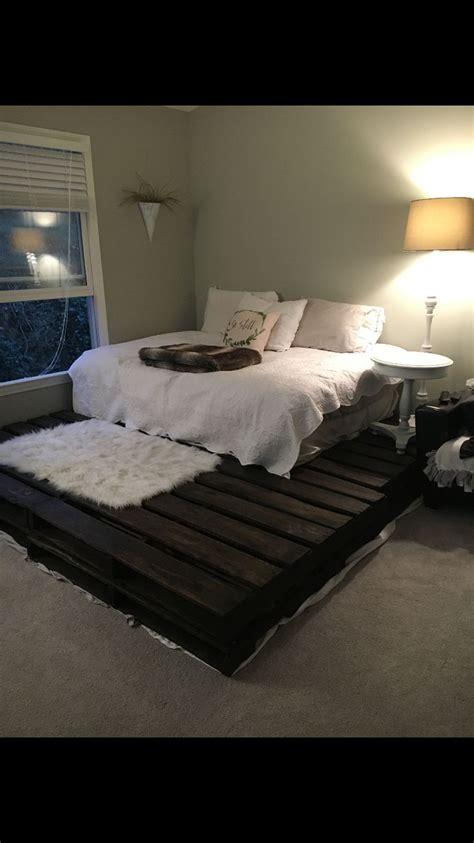 Pallet Platform Bed 17 Best Ideas About Pallet Platform Bed On Pinterest Diy Bed Frame Bed Ideas And Diy Pallet Bed