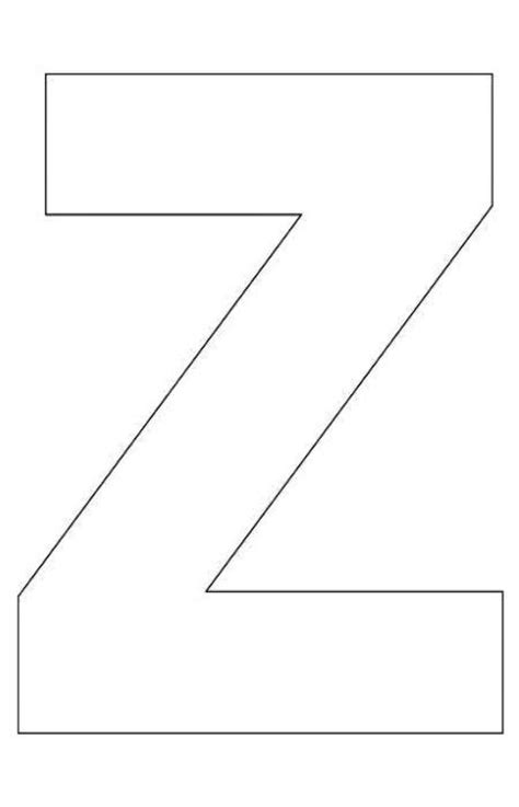 alphabet letter z template for kids alphabet activities
