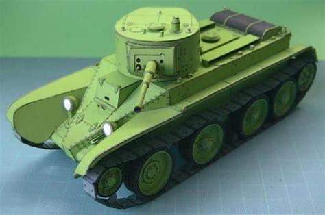 Papercraft Tanks - ww2 s russian tank bt 5 paper model by cardmodel 54