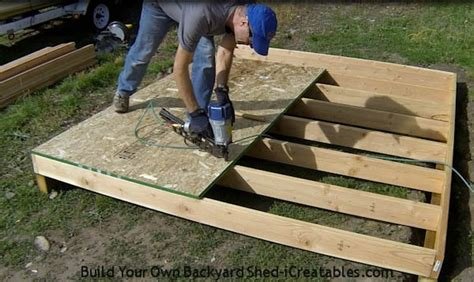 Roof Deck Plan Foundation Shed Plans How To Build A Shed Icreatables