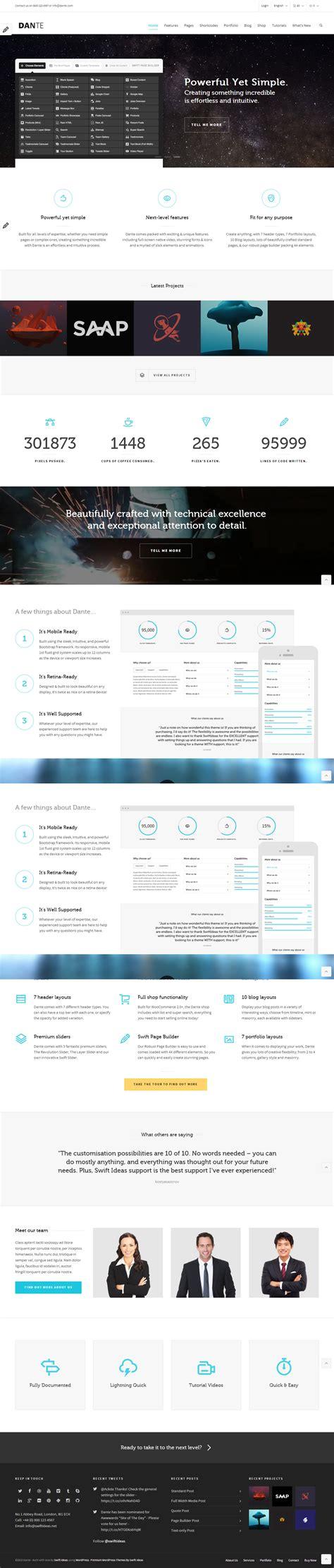 theme wordpress dante 40 best wordpress portfolio themes 2017 responsive miracle