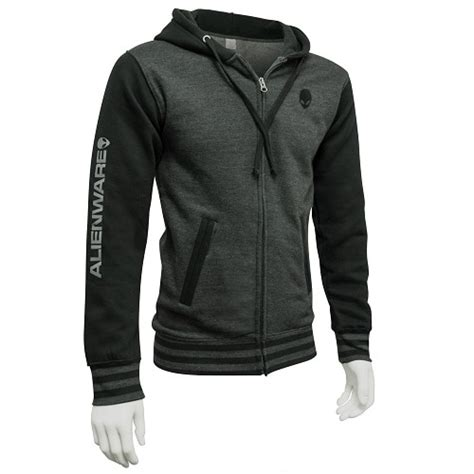 alienware varsity zip hoodie gunmetal charcoal size xl dell united states
