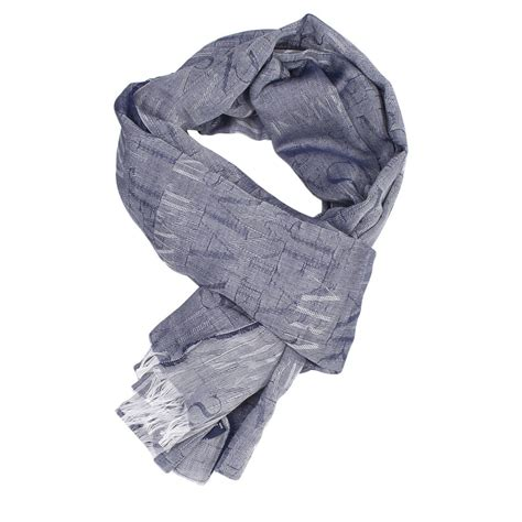 light blue scarf for men lyst armani jeans giorgio armani men s scarf in blue for men