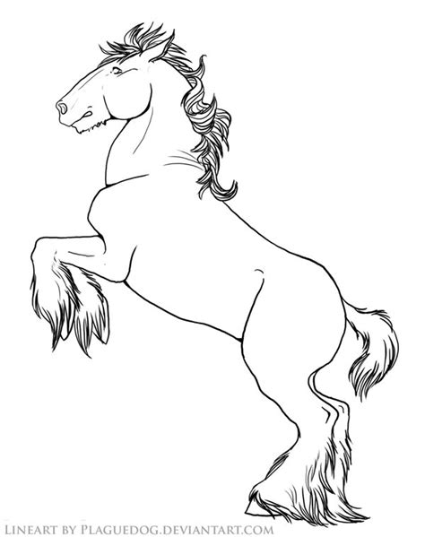 rearing draft horse by plaguedog on deviantart