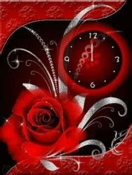 clock themes for mobile phones download free rose clock s40 mobile phone theme 996