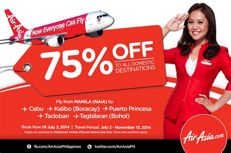 airasia discount air asia zest 75 off on all domestic destinations