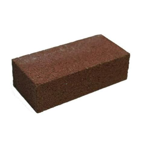 home depot decorative bricks 4 in x 2 in x 8 in red concrete brick 100003009 the