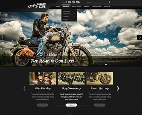 bootstrap themes unity motorcycle website template gridgum