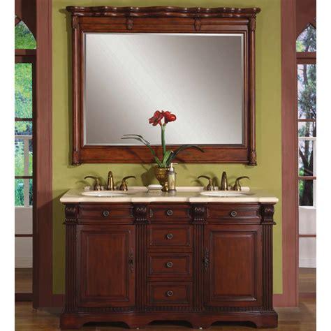 58 inch loraine vanity rosewood finish