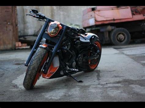 black orange custom v rod harley davidson