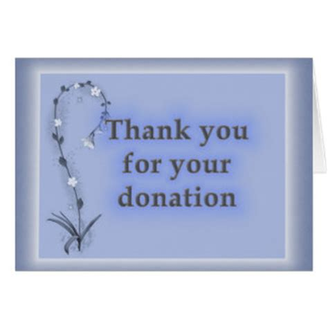 Thank You Card For Donation