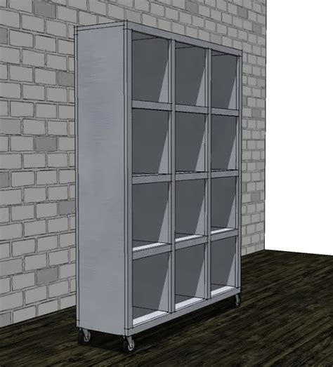 Rolling Room Divider White Rolling Room Divider Cubbies Diy Projects