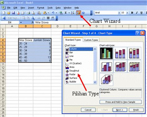 cara membuat grafik di microsoft excel 2003 cara membuat grafik sederhana dengan menggunakan microsoft