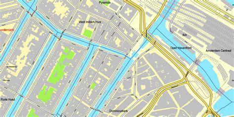netherlands map pdf amsterdam netherlands printable vector city plan