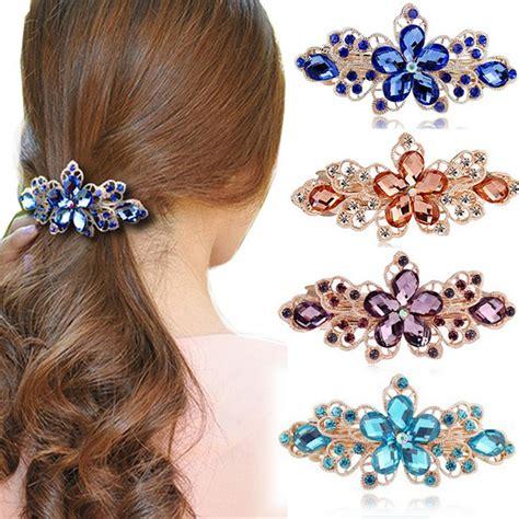 Rhinestone Crown Hair Clip haimeiakng rhinestone flower crown hair clip headwear