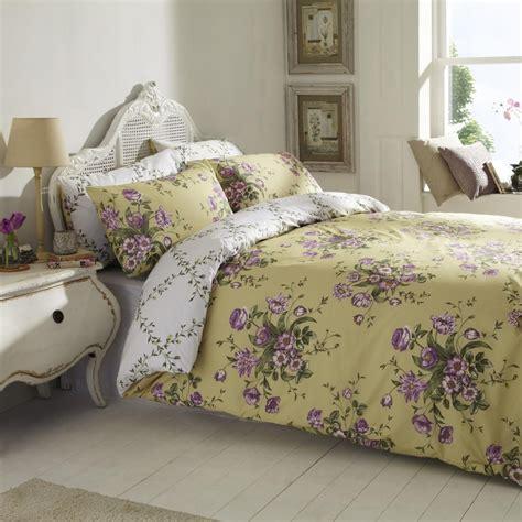 floral bedding sets vantona floral design duvet cover set gold