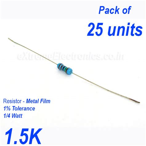 electronics resistor tolerance high precision metal resistor 1 tolerance 1 4 0 25 watt