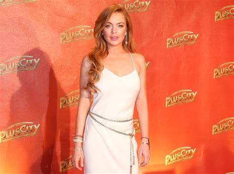 Is Lindsay Lohan These Days by Lindsay Lohan S A Vision In White At Weisses 2014