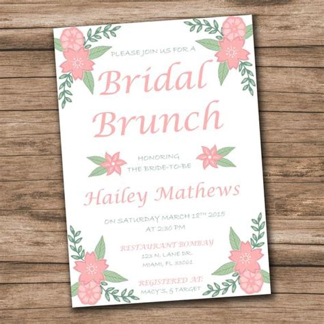 Bridal Shower Invitation Template Download Instantly Wedding Shower Invitation Template