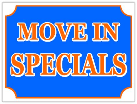 Apartment With Specials Apartment Sign Move In Specials Lawn Sign