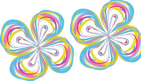 color designs free vector graphic flower abstract color design