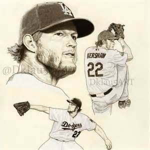 clayton kershaw fine art limited edition print from original