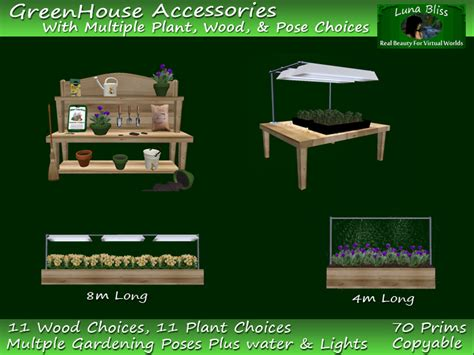 potting bench accessories second life marketplace greenhouse accessories potting