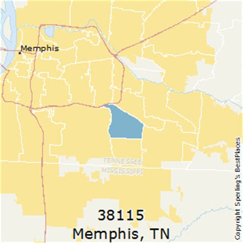 zip code map for memphis tn best places to live in memphis zip 38115 tennessee