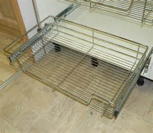 Kitchen Cabinet Pull Out Wire Baskets Pull Out Wire Basket Chrome Kitchen Bedroom Drawer All Sizes Inc 500mm 600mm Ebay