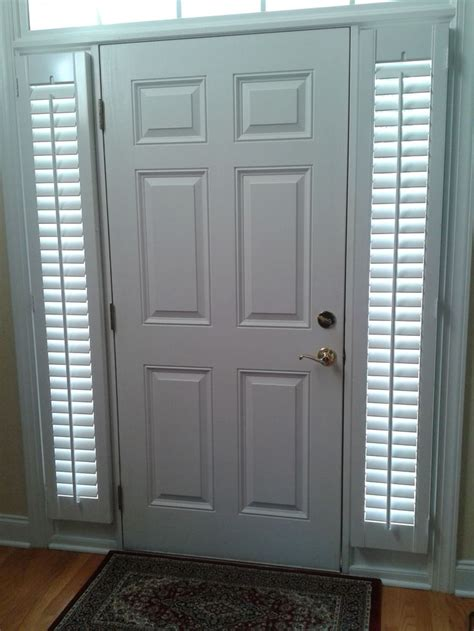 Shutters On Front Door Front Door Sidelights Are An Attractive Solution For Privacy And Light These Plantation