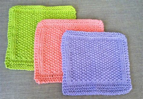 easy knit dishcloth knitted dishcloth patterns for bread bakers
