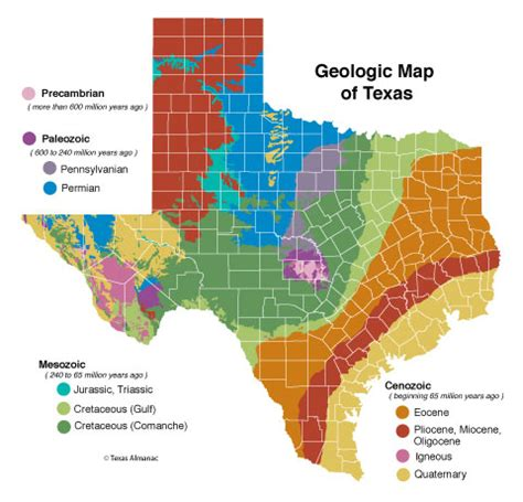 vegetation map of texas geology of texas texas almanac