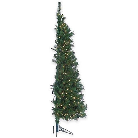 buy 7 foot pre lit tiffany pine wall christmas tree with