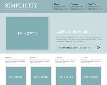 simplicity free psd website template psd templates os