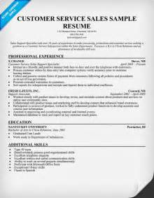 Customer Service Skills For Resume Exles by Sle Resume Templates Customer Service Platinum Class Limousine